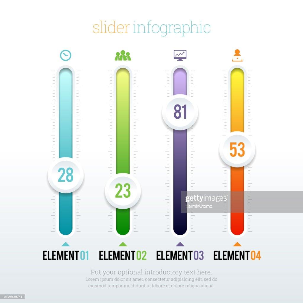 Elemento deslizante infografía : Arte vectorial