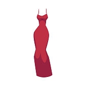 Slim fit evening gown, beautiful long red dress