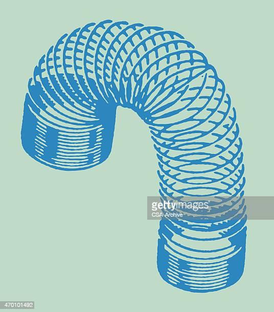 ilustrações, clipart, desenhos animados e ícones de delicado - espiral de metal