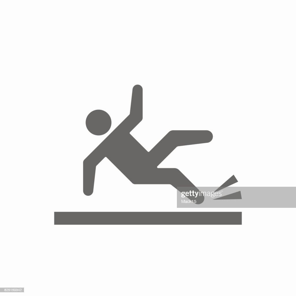Slippery floor vector icon
