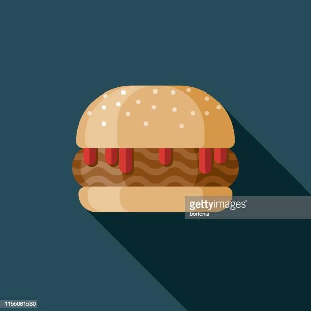 ilustrações, clipart, desenhos animados e ícones de ícone desleixado do sanduíche de joe - sloppy joe, jr