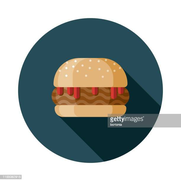 sloppy joe sandwich icon - sloppy joe, jr stock-grafiken, -clipart, -cartoons und -symbole