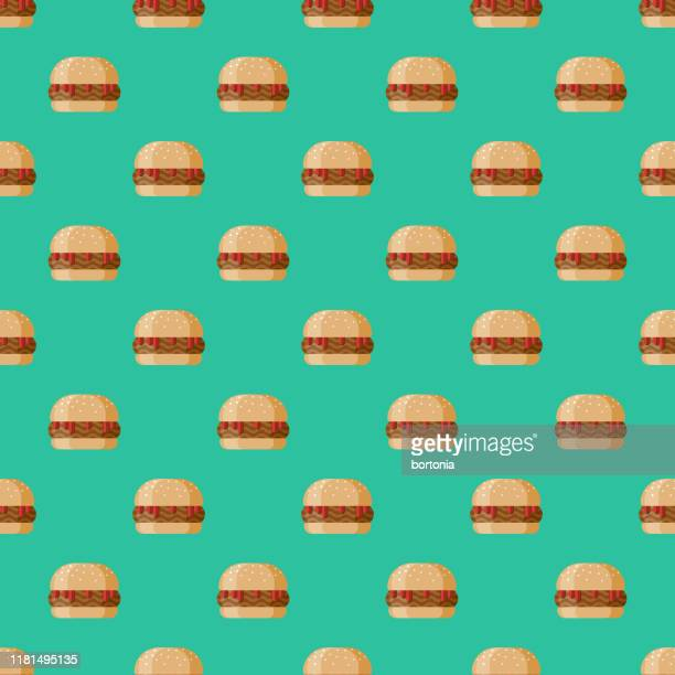 sloppy joe sandwich pattern - sloppy joe, jr stock illustrations