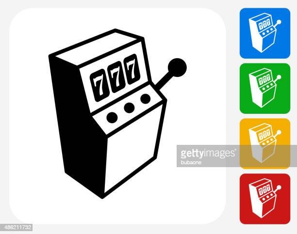 Slot Machine Icon Flat Graphic Design