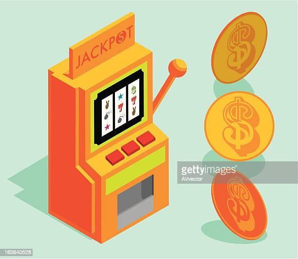 slot machine - jackpot stock illustrations, clip art, cartoons, & icons