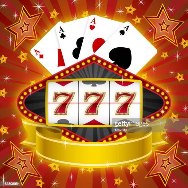 slot machine - slot machine stock illustrations, clip art, cartoons, & icons