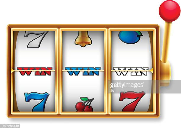 slot machine winner - spinning stock illustrations