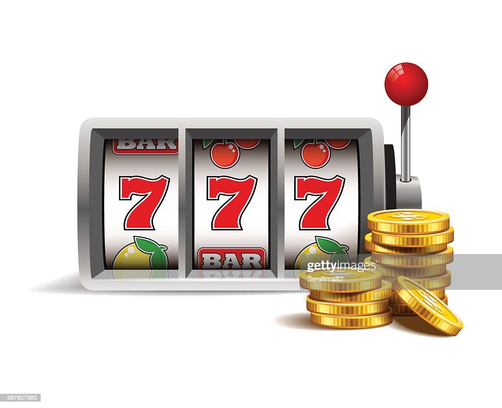 Slot machine with lucky seven.