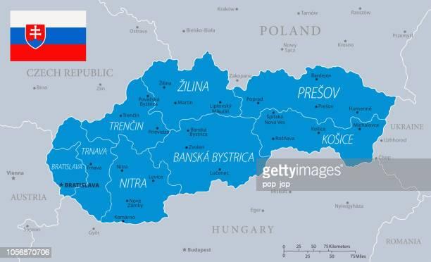 33 - slovakia - blue gray 10 - slovakia stock illustrations