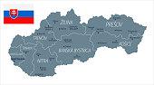 30 - Slovakia - Grayscale Isolated 10
