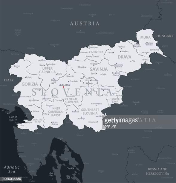 ilustraciones, imágenes clip art, dibujos animados e iconos de stock de 19 - eslovenia - gris negro 10 - kranj