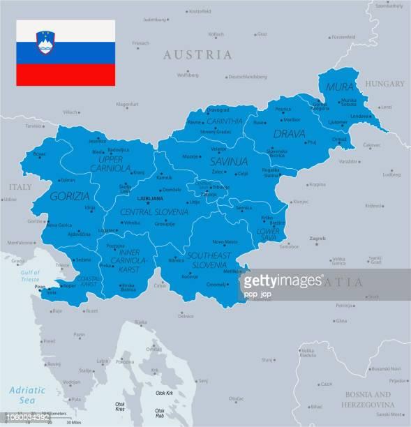 ilustraciones, imágenes clip art, dibujos animados e iconos de stock de 33 - eslovenia - azul gris 10 - kranj