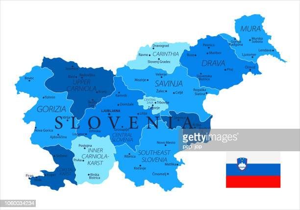 04 - slovenia - blue spot isolated 10 - kranj stock illustrations