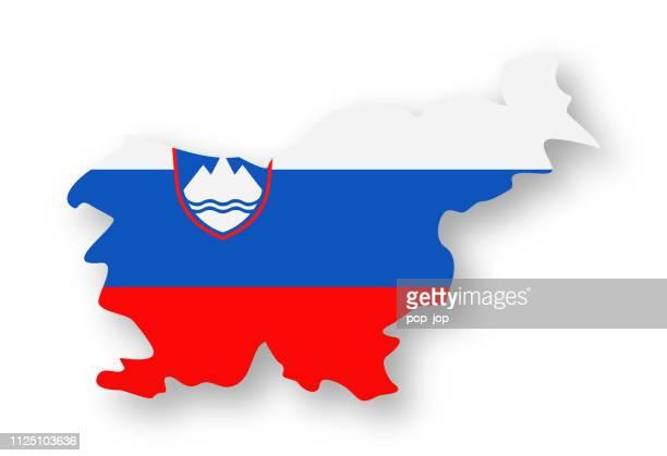 Slovenia - Contour Country Flag Vector Flat Icon
