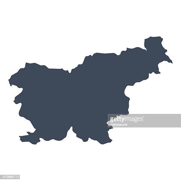 slowenien land karte - slowenien stock-grafiken, -clipart, -cartoons und -symbole