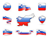 Slovenia Flags Collection