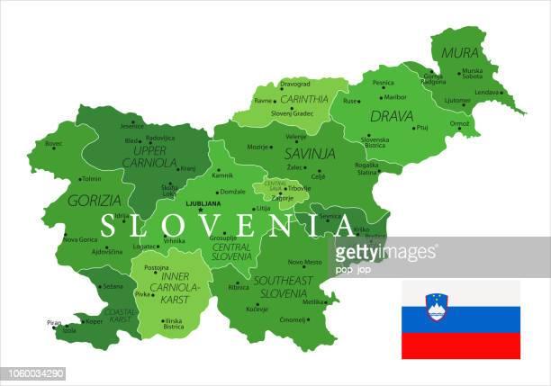 ilustraciones, imágenes clip art, dibujos animados e iconos de stock de 15 - eslovenia - verde 10 aislado - kranj