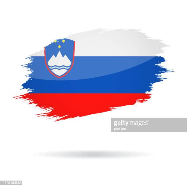 Slovenia - Grunge Flag Vector Glossy Icon
