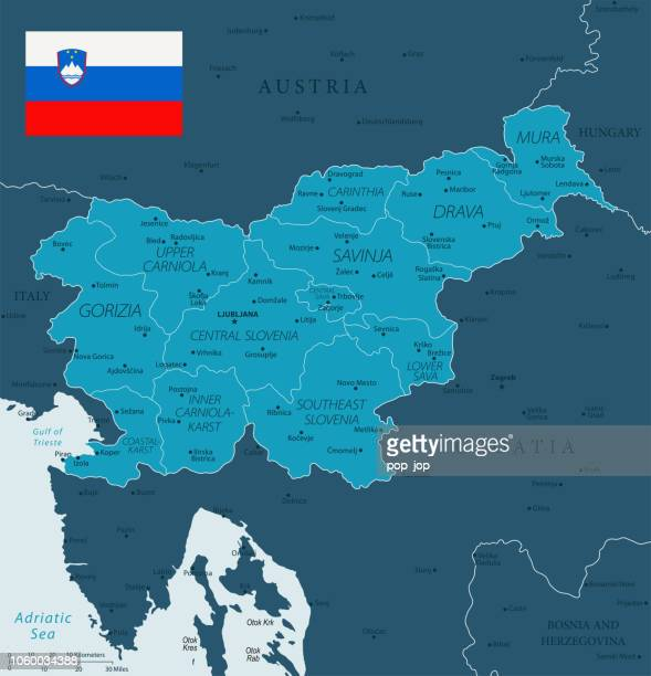 ilustraciones, imágenes clip art, dibujos animados e iconos de stock de 32 - eslovenia - murena oscuro 10 - kranj