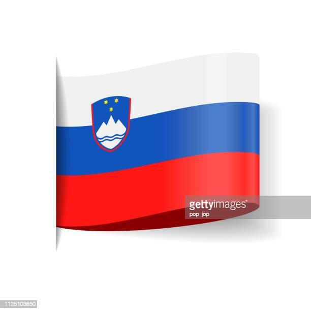 Slovenia - Tag Label Flag Vector Flat Icon
