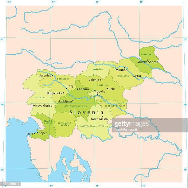 Slovenia Vector Map
