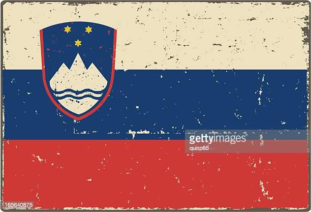 スロベニアフラグ - スロベニア国旗点のイラスト素材/クリップアート素材/マンガ素材/アイコン素材