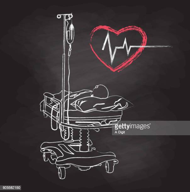 slowly dying hospital - death stock illustrations