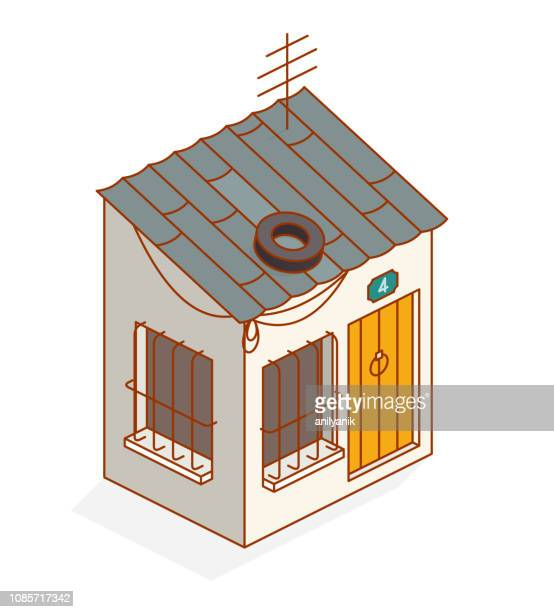 slum - hut stock illustrations