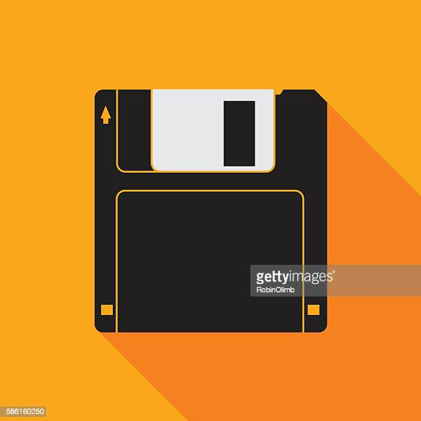 smal retro floppy disc - floppy disk stock illustrations, clip art, cartoons, & icons