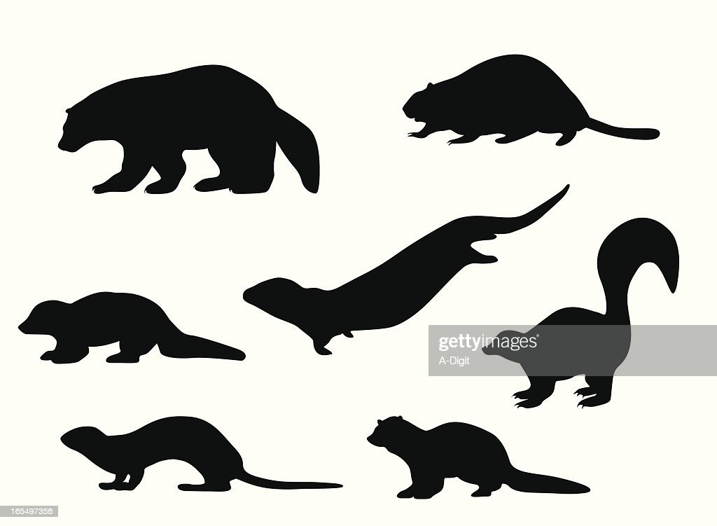 Small Animals Vector Silhouette