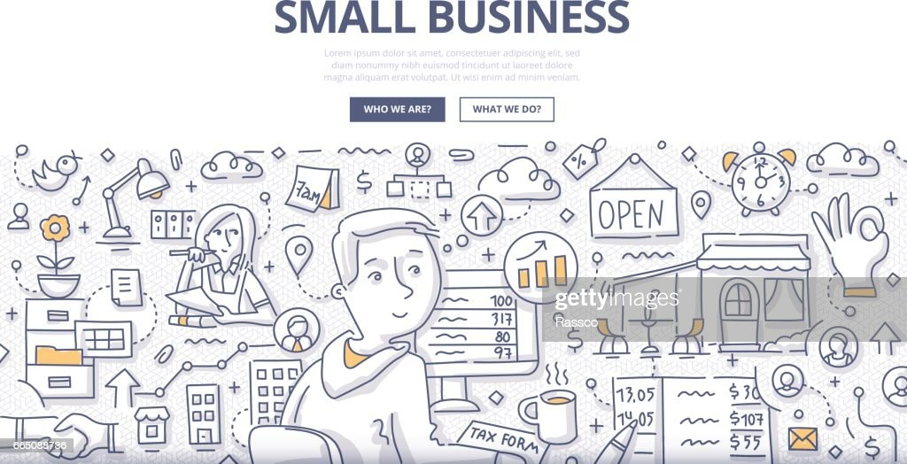 Small Business Doodle Concept