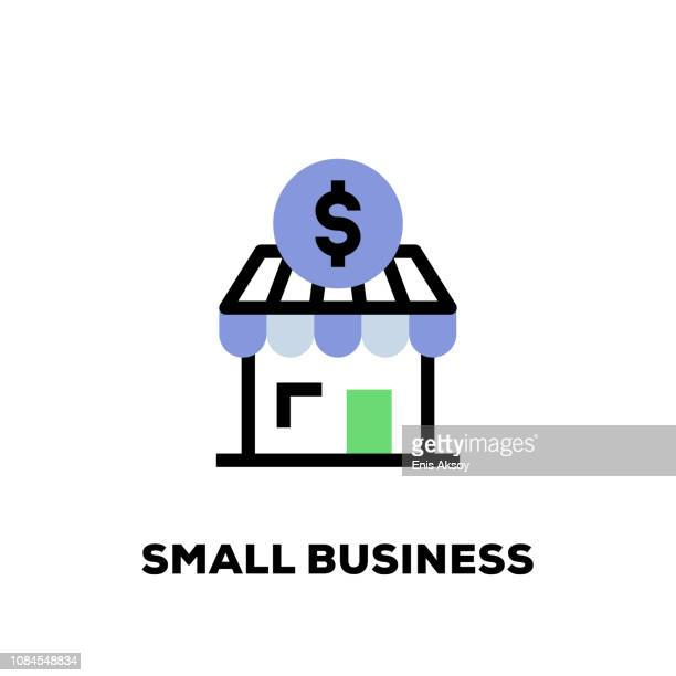 small business line icon - small business stock illustrations