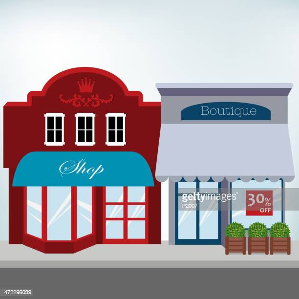small business shops - boutique stock illustrations, clip art, cartoons, & icons