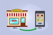 Small business transforms into online shop