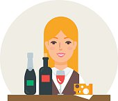Small business - wine shop vector illustration flat style