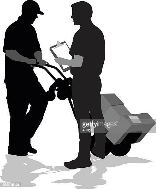 small businessdelivery - hand truck stock illustrations, clip art, cartoons, & icons