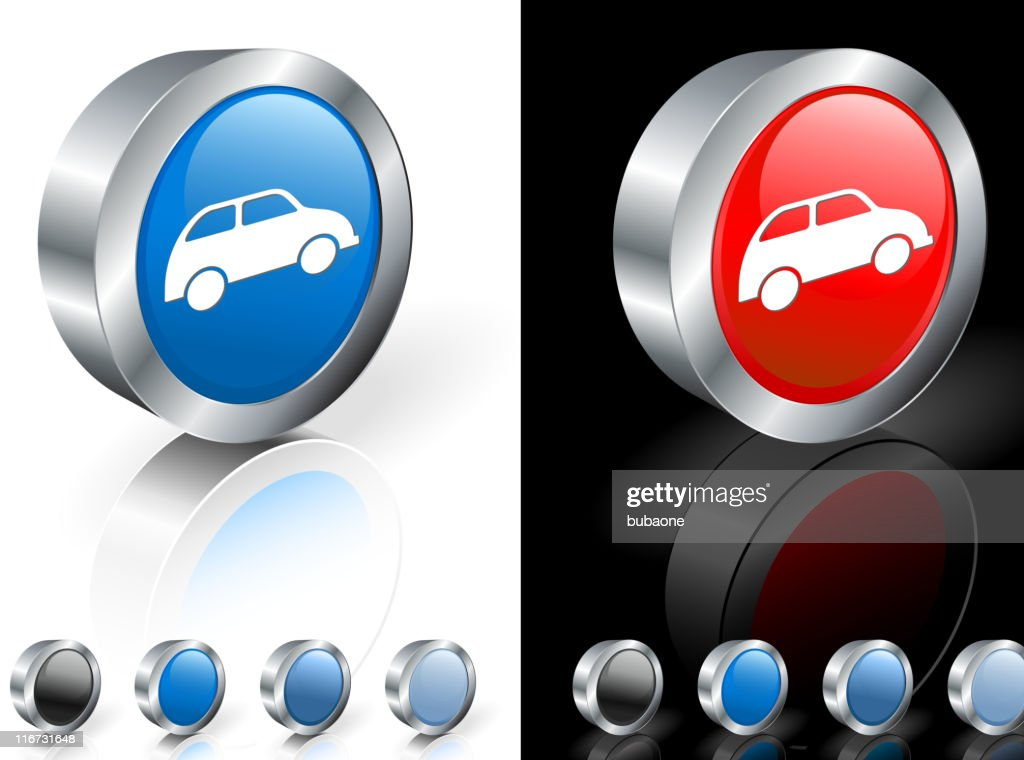 small car 3D royalty free vector art