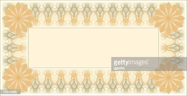 Small certificate template with delicate line swirl border