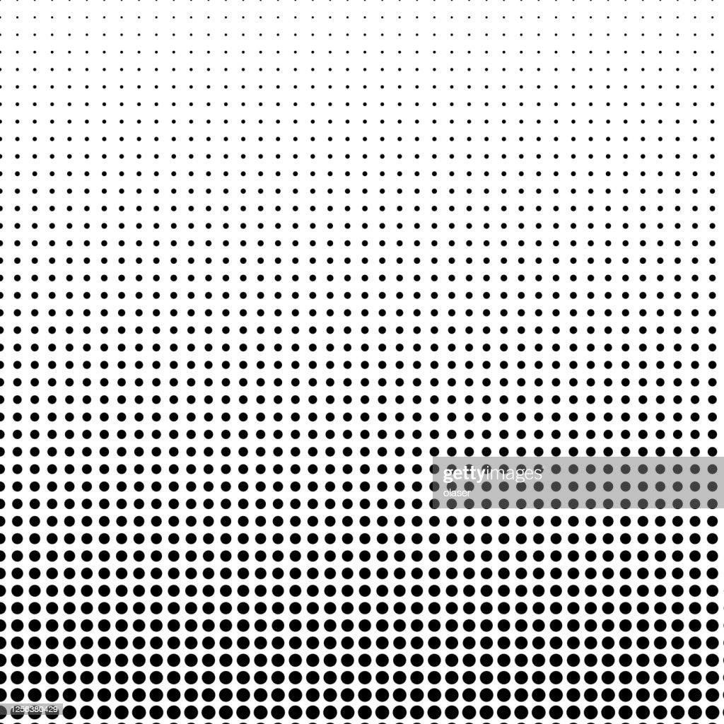 縦のサイズのグラデーションを使用した小さな円形の図形パターン。 : ストックイラストレーション