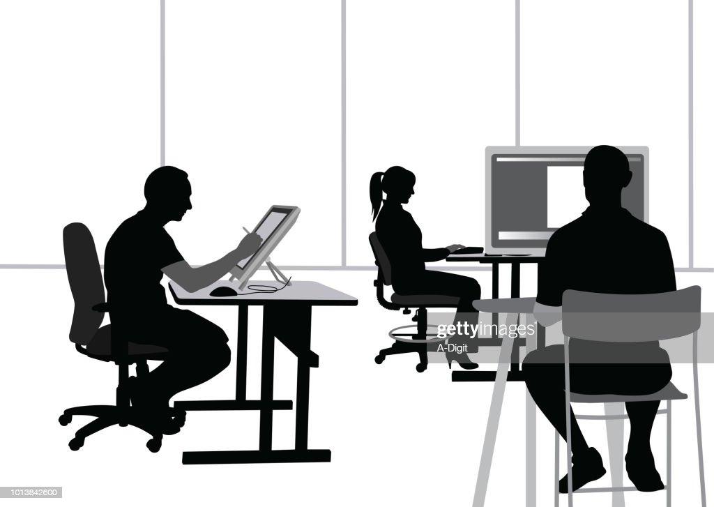 Small Computer Developer Company : Stock Illustration