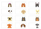 Small dogs banner set