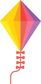 Small flying rainbow colorful fish kite fun wind summer toy