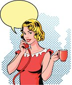 Small Gossip on the Phone with Cup of Coffee
