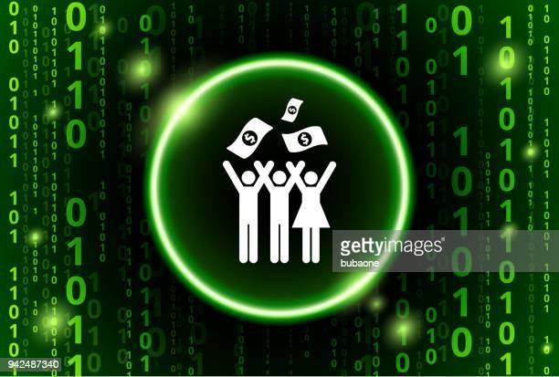 Kleine Gruppe Feier & Geld Binärcode Vektor Muster Hintergrund