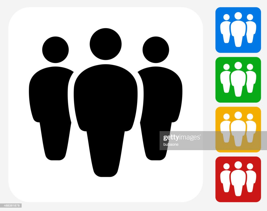 Small Group Icon Flat Graphic Design