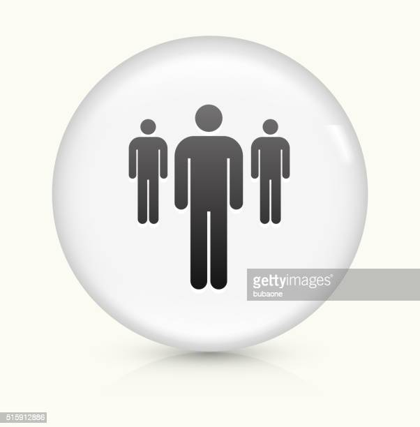 Small Group of People icon on white round vector button