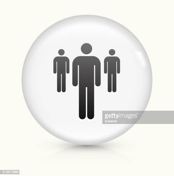 Kleine eine Gruppe von Menschen Symbol auf weißer Runder Vektor Knopf