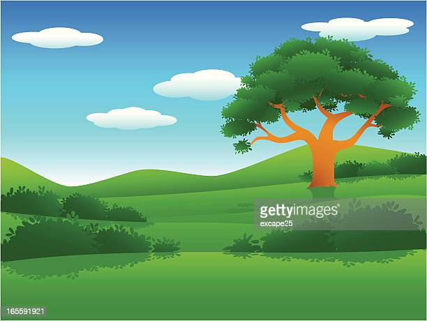small hills - natural parkland stock illustrations, clip art, cartoons, & icons