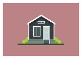 small home building simple illustration