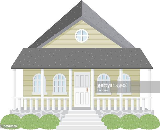small house - bungalow stock illustrations, clip art, cartoons, & icons